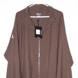 New Men's Brown Adidas Light Weight Jacket, 3XL